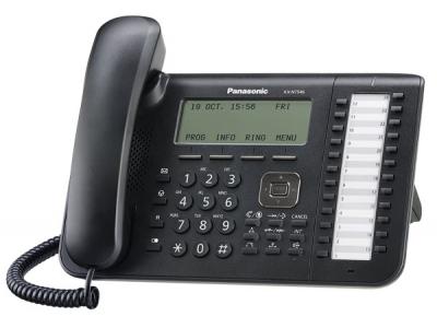 KX-NT546B  Стандартен IP телефон със 6-линеен LCD дисплей