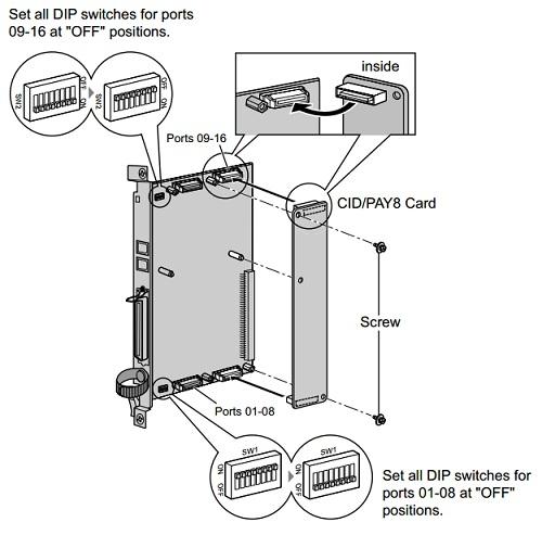 KX-TDA0189 - Монтажна схема