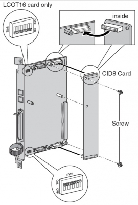 KX-TDA0193 - Монтажна схема