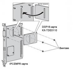 KX-TDE0110 - схема на включване