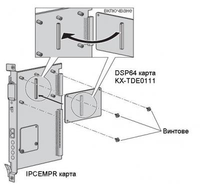 KX-TDE0111 - схема на включване
